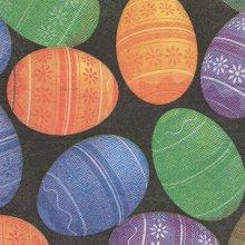 Serviette papier Pâques et oeufs couleurs 33 cm X 33 cm 3 plis