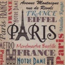 Serviette papier Paris Bastille  33 cm X 33 cm 3 plis