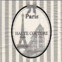 Serviette papier Paris Haute Couture 33 cm X 33 cm 3 plis