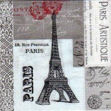 Serviette papier Paris Artistique 25 cm X 25 cm
