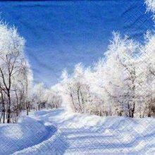 Serviette papier paysage hiver  33 cm X 33 cm 3 plis