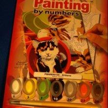 Peinture au numéro chat