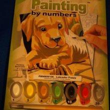 Peinture au numéro chien