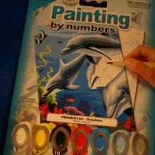 Peinture au numéro dauphin