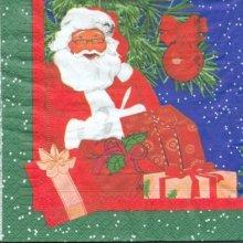 Serviette papier Père Noël 33 cm X 33 cm 3 plis