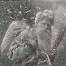 Serviette papier Père Noël Vintage 33 cm X 33 cm 3 plis
