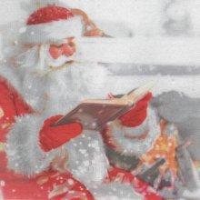 Serviette papier Père Noël et livre 38 cm X 38 cm 2 plis