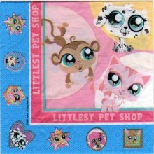 Serviette papier Little Pet Shop de 33 cm X 33 cm 2 plis
