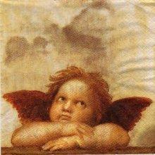 Serviette papier Petit ange de Noël  33 cm X 33 cm 3 plis