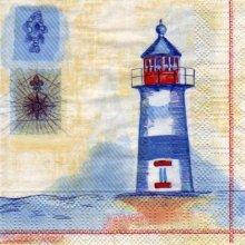 Serviette papier phare et mer 25 cm X 25 cm 3 plis