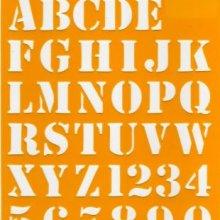 Pochoirs alphabets et chiffres