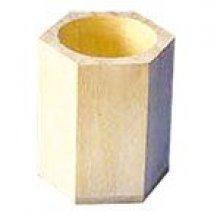 Pot à crayons bois 80 mm x 70 mm x 110 mm