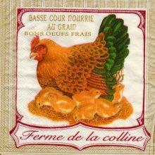 Serviette papier poule 33cm X 33 cm 3 plis