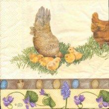 Serviette papier motif poussin de Pâques 33cm X 33 cm 3 plis