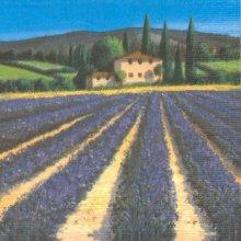 Serviette papier Provence et lavande 25 cm X 25 cm 3 plis