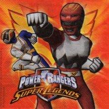 Serviette papier Powers Rangers 33 cm X 33 cm 2 plis