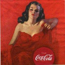 Serviette papier Coca Cola robe rouge