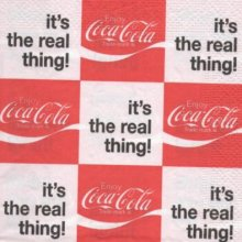 Serviette papier Coca Cola the real