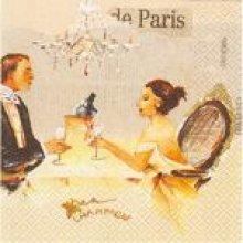 Serviette papier  motif Paris 33 cm X 33 cm 3 plis