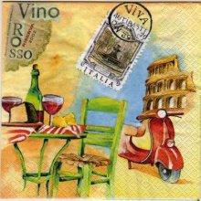 Serviette papier  motif Italie 33 cm X 33 cm 3 plis