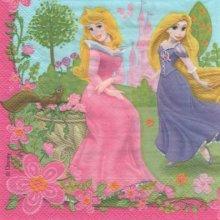 Serviette papier Raiponce et le chateau 33 cm X 33 cm 2 plis