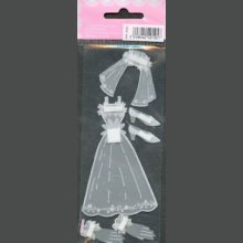 Stickers 3D robe de marié