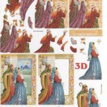 Feuilles à découper 3D rois mages