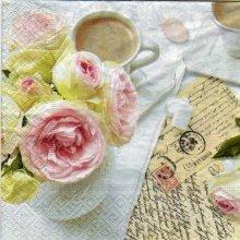 Serviette papier rose et café X 33 cm 3 plis