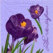 Serviette papier fleurs de safran 33 cm X 33 cm 3 plis