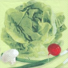 Serviette papier motif salade de 33 cm X 33 cm 3 plis