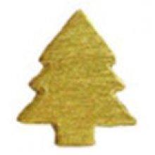 Sachet sapins dorés 24 pièces