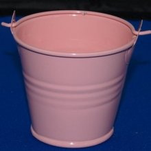 Seau métal rose 5 cm pour dragées
