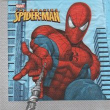 Serviette Spiderman de 33 cm X 33 cm 2 plis