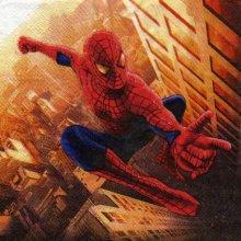 Serviette Spiderman 2 de 33 cm X 33 cm 2 plis