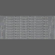 Stickers Bonnes Fêtes argent 230 mm x 100 mm