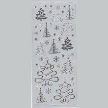 Stickers sapin de Noel230 mm x 100 mm