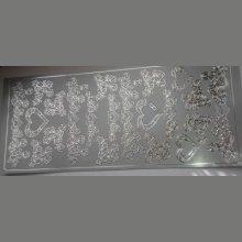Sticker coeur couleur argent 230 mm x 100 mm