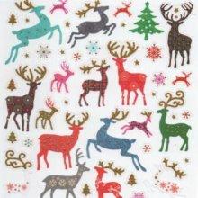 Sticker rennes de Noël