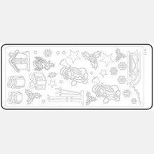 Stickers bougie de Noël 230 mm x 100 mm