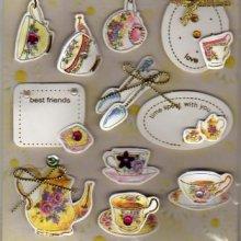 Stickers 3D tasse de thé