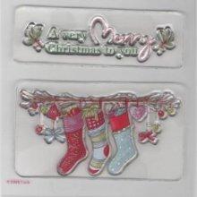 Tampons transparents Noël et chaussettes