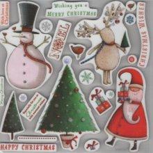 Tampons transparents Noël et sapin
