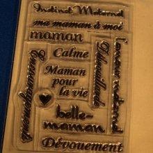 Tampons transparents Maman