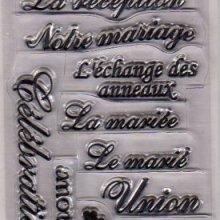 Tampons transparents mariage réception