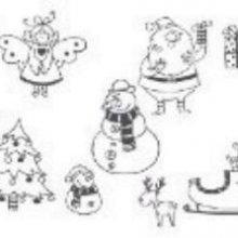 Tampons transparents Noel