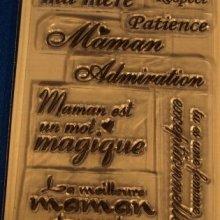 Tampons transparents Maman magique
