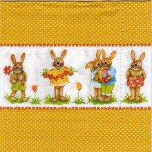 Serviette papier lapins de Paques33 cm x 33 cm