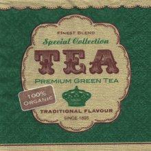 Serviette papier thè vert 33 cm X 33 cm 3 plis