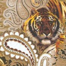 Serviette papier tigre 33 cm X 33 cm 3 plis