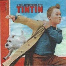 Serviette papier motif Tintin de 33 cm X 33 cm 3 plis